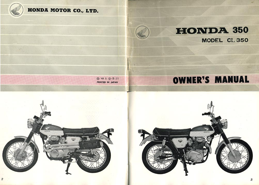 Honda Owners Manual >> Honda Cl350 History