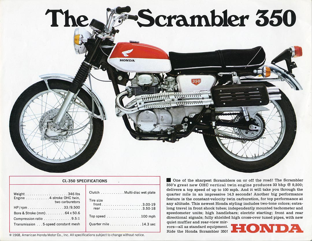 1968 Honda Cb Wiring Diagram Library Cb250 Harness Motorcycle Diagrams Cb550 Cb650sc Cl350 History