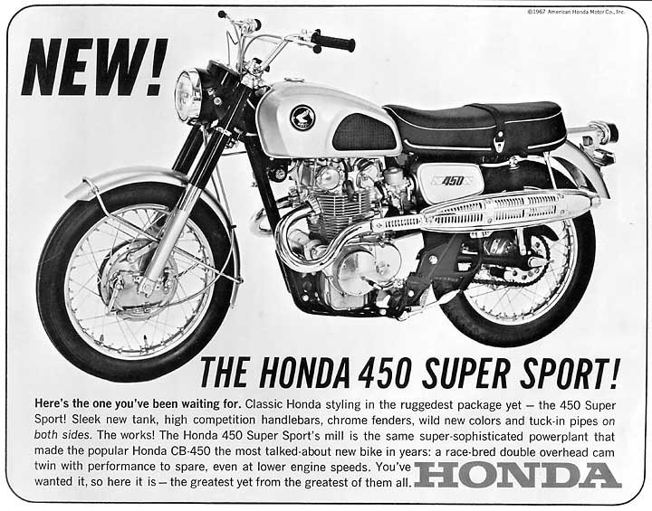 Hondas Scrambler 450 Officially Arrived With The Introduction Of 5 Speed CL450K1 In 1968 Illustrated Below A Single Sheet Brochure From